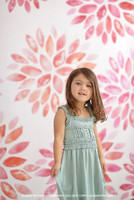 Pink Flowers Photography Backdrop - Watercolor Flowers Backdrop - Floral Photo Back Drop - Exclusive Design! - Item 2052