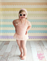 Layered Pastel Rainbow Paper Strip Photography Backdrop - Item 2059