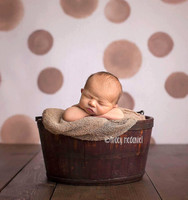 Watercolor Brown Dot Photography Backdrop - Painted Brown Polka Dots Back Drop - Beige Dot Backdrop - Exclusive Design! - Item 2081