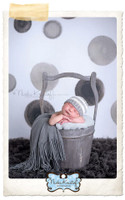 Watercolor Black Dot Photography Backdrop - Painted Black and Gray Polka Dots Backdrop - Exclusive Design! - Item 2082