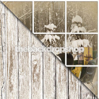 Faded White Wood Floor / Christmas Window - Item 1371 & 1758