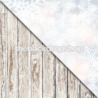 Faded White Wood Floor / Christmas Backdrop - Item 1371 & 660