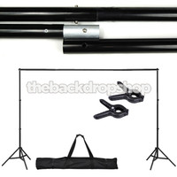 Photography Backdrop Stand WITH CLAMPS - Adjustable 10ft x6ft Backdrop Support System - Photography Studio Equipment