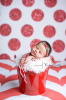 Red Glitter Dot Backdrop - Polka Dot Photo Background - Christmas Backdrop - Exclusive Design - Item 2122