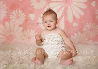 Pink Flower Backdrop for Photos - Floral Photography Background - Item 747