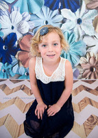 Vinyl Photography Backdrop - Baby Boy Floral Photo Backdrop - Blue Flowers - Vinyl or Poly - Exclusive Design - Item 1937