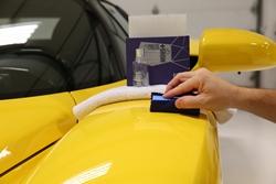 Applying Gyeon Mohs+ coating to a Ferrari Enzo