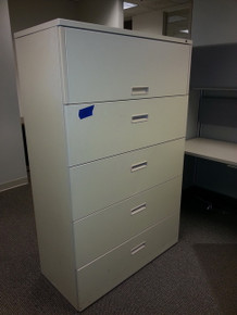 7 USED HERMAN MILLER 42W 5 DRAWER LATERAL FILES