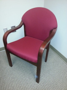 34 USED NATIONAL GUEST CHAIRS WITH WOOD FRAME