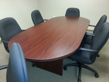 USED 8FT CONFERENCE TABLE IN MAHOGANY LAMINATE