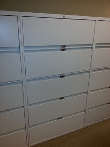 7 USED STEELCASE 36W 5 DRAWER LATERAL FILES