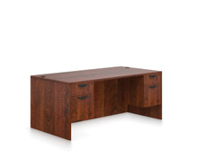ADC Dark Cherry - Global OTG Laminate Desk with 2 Storage Pedestals