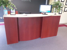 Used Cherry Laminate Reception Desk