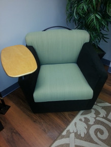 7 Used Brayton Mobile Lounge Chairs with Tablet Arms