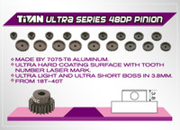 Titan 48dp Aluminum Pinion/Ultra Series (18T-28T)