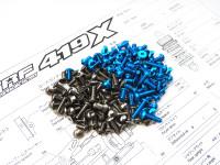 Hiro Seiko TRF419X Titan & Alum Hex Socket Screw Set [T-Blue]