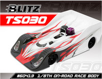 BLITZ 1/8 On Road Racing Body TS030 (0.8mm)