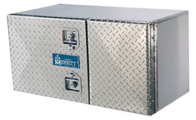 Double Door Aluminum Tool Boxes | Smooth or Diamond Plate Doors
