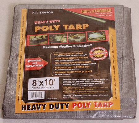 All Season Silver Black Heavy Duty Poly Tarps