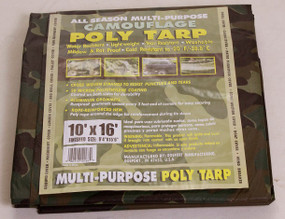 All Season Multi-Purpose Camouflage Poly Tarp