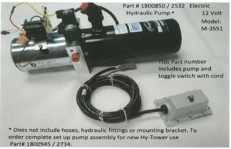 Electric Hydraulic Pump - 12 Volt M3551 (20-2532/1800850)