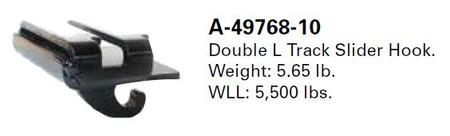 Double L Track Slider Hook (A-49768-10)