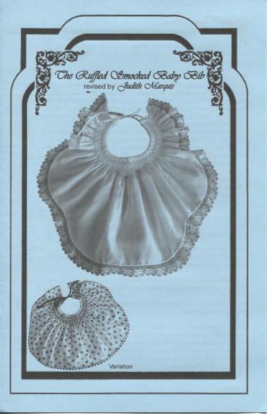 Ruffled Smocked Bib leaflet by Judith Marquis