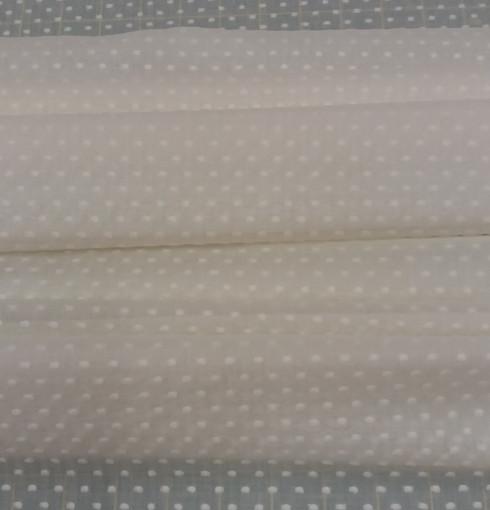 Swiss voile in cream with cream cut spot 138 c wide 100% cotton - priced per metre