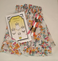 Sundress kit with pattern by Judith Marquis - includes pattern with smocking designs, pre-pleated fabric, stranded cotton and a crewel needle - available in 3,6,12,18 and 24 month size