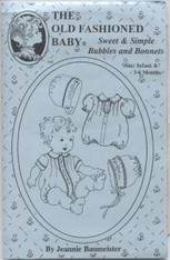 Sweet & Simple Bubbles and Bonnets pattern by The Old Fashioned Baby