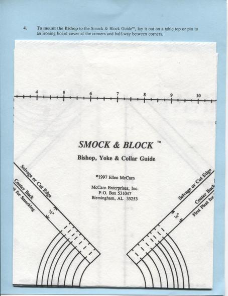 Smock & Block Bishop, Yoke & Collar Guide by Ellen McCarn