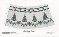 Smocking plate Christmas Trees by Ellen McCarn