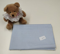 66 cm x 147 cm blue 100% cotton truella (brushed) gingham