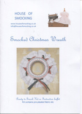 Smocked 7 inch Christmas Wreath Instruction leaflet
