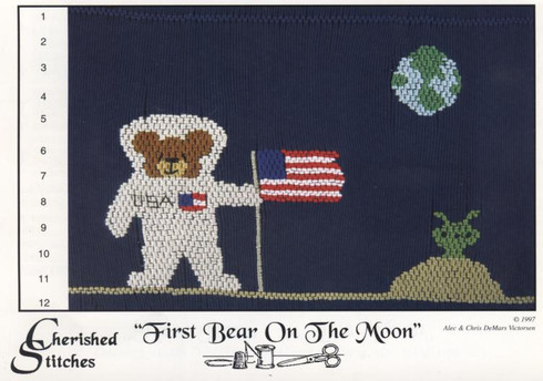 First Bear on the Moon smocking plate by Cherished Stitches