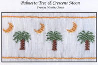 Palmetto Tree & Crescent Moon smocking plate by Frances Messina Jones