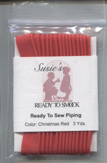 Susie's Ready to Sew piping in Christmas Red - colour match Anchor 9046