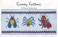 Creepy Critters smocking plate by Frances Messina Jones