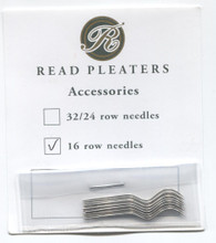 Pack of 12 Read 16 Row Smocking Needles - before opening the pack, compare the curve of your old needle with the new one to check they match