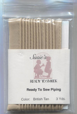 Susie's Ready to Sew piping in British Tan - colour match Anchor 390