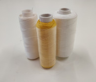 Wax Coated Hand Quilting Thread for use with a Smocking Pleater