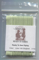 Susie's Ready to Smock Gingham piping in Lime