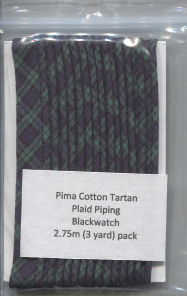 Ready to Sew Tartan Piping in Blackwatch 2.75 metres (3yards)