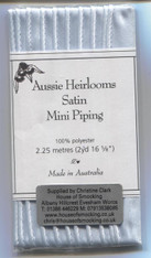 Aussie Heirloom Satin piping in Ice Blue