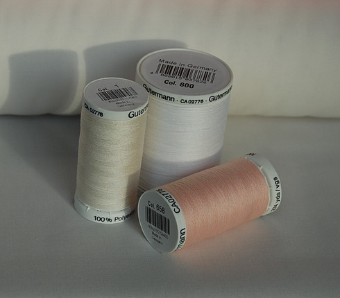 Gutermann Sew All Thread in White, Pink or Cream in 100m or 250m reels, priced per reel