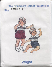 Wright Button on Smocked Suit pattern by Children's Corner