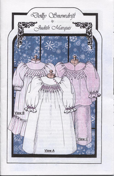 Dolly Snowdrift Smocking pattern by Judith Marquis