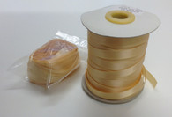 Single faced satin ribbon in Buttercup 9 mm x 10 metre length