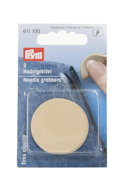 Pack of two needle grabber grips the needle and pulls it through fabrics with ease.  Ideal for use when doing bullions.