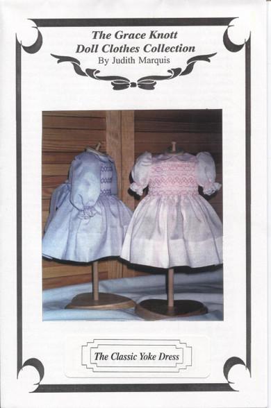 Doll Smocked Classic Yoke Dress Pattern by Judith Marquis